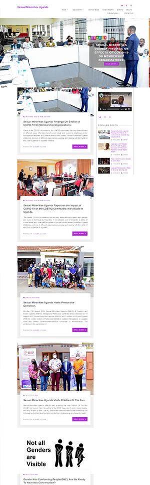 Sexual Minorities Uganda Webpage preview